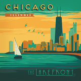 Chicago Lakefront Square Posters by  Anderson Design Group