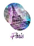 Pop Art Eiffel Tower Graphic Style Art by Melanie Viola