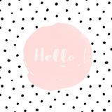 Hello Illustration Dots Shabby Art by  Grab My Art