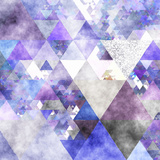 Triangles Abstract Pattern -Square 17 Prints by  Grab My Art