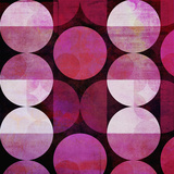 Red Circle Pattern - Square Posters by  Lebens Art