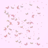 Pink Gold Glitter Pattern Butterflies -Square 2 Posters by  Grab My Art