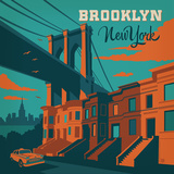 Brooklyn Nyc Square Prints by  Anderson Design Group