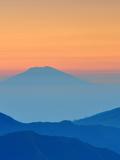 Sundown In Mountains Landscape Prints by  Grab My Art