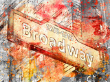 Broadway 2 Reproduction procédé giclée par  Lebens Art