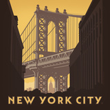 Nyc Manhattan Bridge Square Affiches par  Anderson Design Group