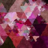 Triangles Abstract Pattern - Square 19 Posters by  Grab My Art
