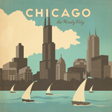 Chicago Widy City Square Prints by  Anderson Design Group
