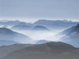 Mountains Clouds Blue Landscape Prints by  Grab My Art