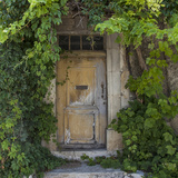Rustic Door - Square Print by  Lebens Art