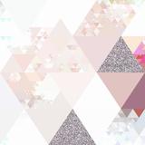 Elegant Pink Glitter Pattern - Square Prints by  Grab My Art