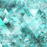 Triangles Abstract Pattern - Square 15 Posters by  Grab My Art