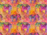 Elephants Prints by  Lebens Art