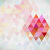 Triangles Abstract Pattern - Square 10 Posters by  Grab My Art