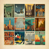 Nyc Pattern Border Prints by  Anderson Design Group