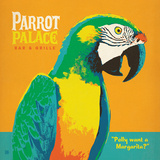Parrot Palace Square Prints by  Anderson Design Group