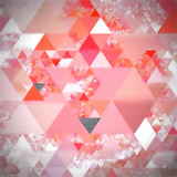 Triangles Abstract Pattern - Square 24 Prints by  Grab My Art