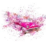 Retro Car Color Splash - Square Prints by  Lebens Art