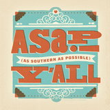 Asap Square Print by  Anderson Design Group