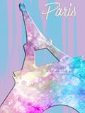 Graphic Style Paris Eiffel Tower Pink Prints by Melanie Viola
