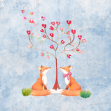 Love Foxes Animal Wild Mammal - Square Poster by  Grab My Art