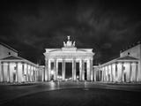 Berlin Brandenburg Gate Monochrome Poster by Melanie Viola