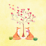 Love Foxes Animal Wild Mammal - Square 2 Prints by  Grab My Art