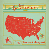 Map USA Posters by  Anderson Design Group