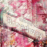 Broadway - Square Posters by  Lebens Art