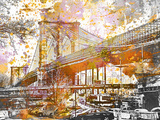 Brooklyn Bridge Prints by  Lebens Art