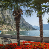 Lake Garda Gorgeous Riverside In Limone Sul Garda Prints by Melanie Viola