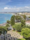 Cote Dazur Nice Promenade Des Anglais Poster di Melanie Viola