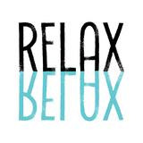 Relax Cyan Print by Melanie Viola
