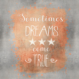 Dreams Come True - Square Print by  Lebens Art