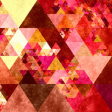 Triangles Abstract Pattern -Square 12 Prints by  Grab My Art