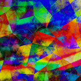 Triangles Abstract Pattern - Square 9 Art by  Grab My Art