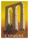 Espagne (Spain) - Aqueduct of Segovia Posters by Jacques H. Delpy