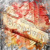 Broadway - Square 2 Reproduction procédé giclée par  Lebens Art