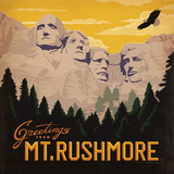 Mt Rushmore Square Posters by  Anderson Design Group