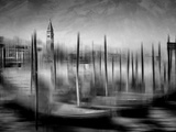 City Art Venice Grand Canal Monochrome Poster by Melanie Viola