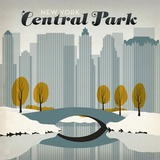 Central Park Snow Square Posters by  Anderson Design Group