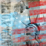 Statue Of Liberty 2 - Square Print by  Lebens Art