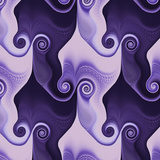 Abstract Spiral Purple - Square Posters by  Lebens Art