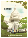 Washington, D.C. - Chesapeake & Ohio Railway - United States Capitol Building Posters by Bern Hill