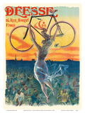 Deesse Bicycles - Paris, France - Nude Winged Goddess Posters by Jean de Paleologue
