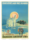 Cruises to Northern Countries - North Pole and the Arctic - Hamburg-American Line HAPAG Prints by Albert Fuess