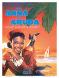 With Anna to Aruba - Martinair Airline - One Happy Island, One Happy Holiday! Art by  Pacifica Island Art