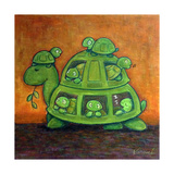 Turtle Family Prints by  Kourosh