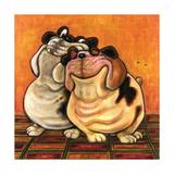 Bulldogs in Love Prints by  Kourosh