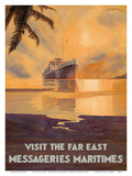 Visit the Far East - Messagerie Maritimes (MM) Prints by Jean Des Gachons